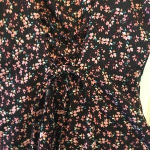 Xhilaration Dresses - Juniors Mini-Floral Buttoned down Dress